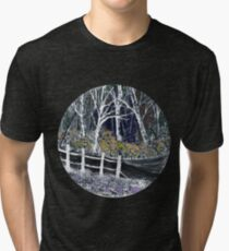 'Snow whites Wood - Midnight' Tri-blend T-Shirt