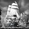 TALL DOUBLE MASTED SHIP - FULL SAILS
