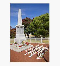 Carisbrook Cenotaph  Photographic Print
