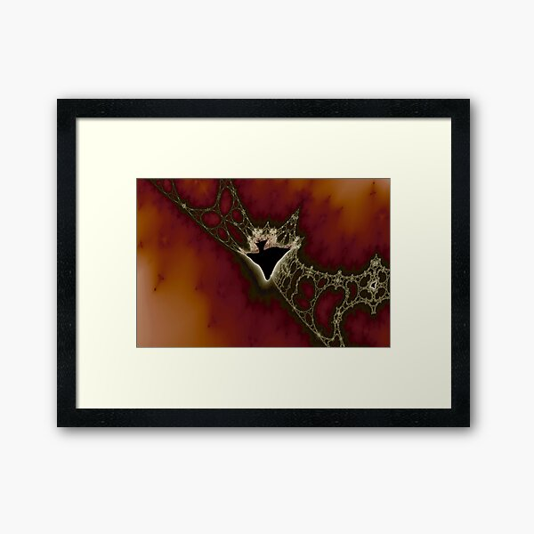 Caught in the Latticework Framed Art Print