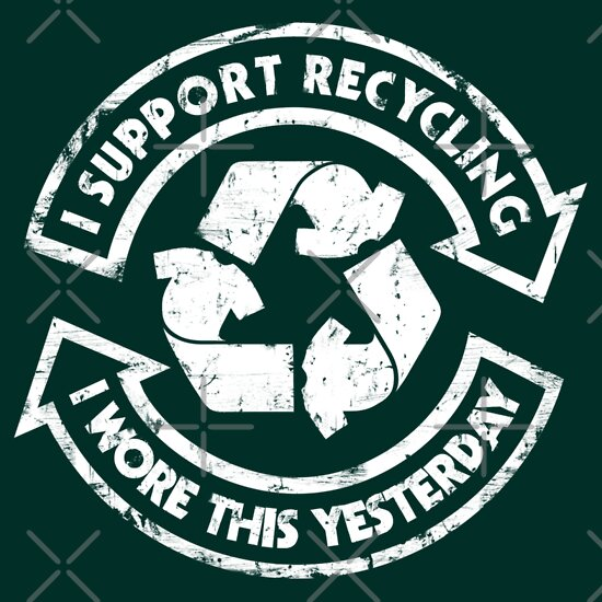 TShirtGifter presents: I support recycling