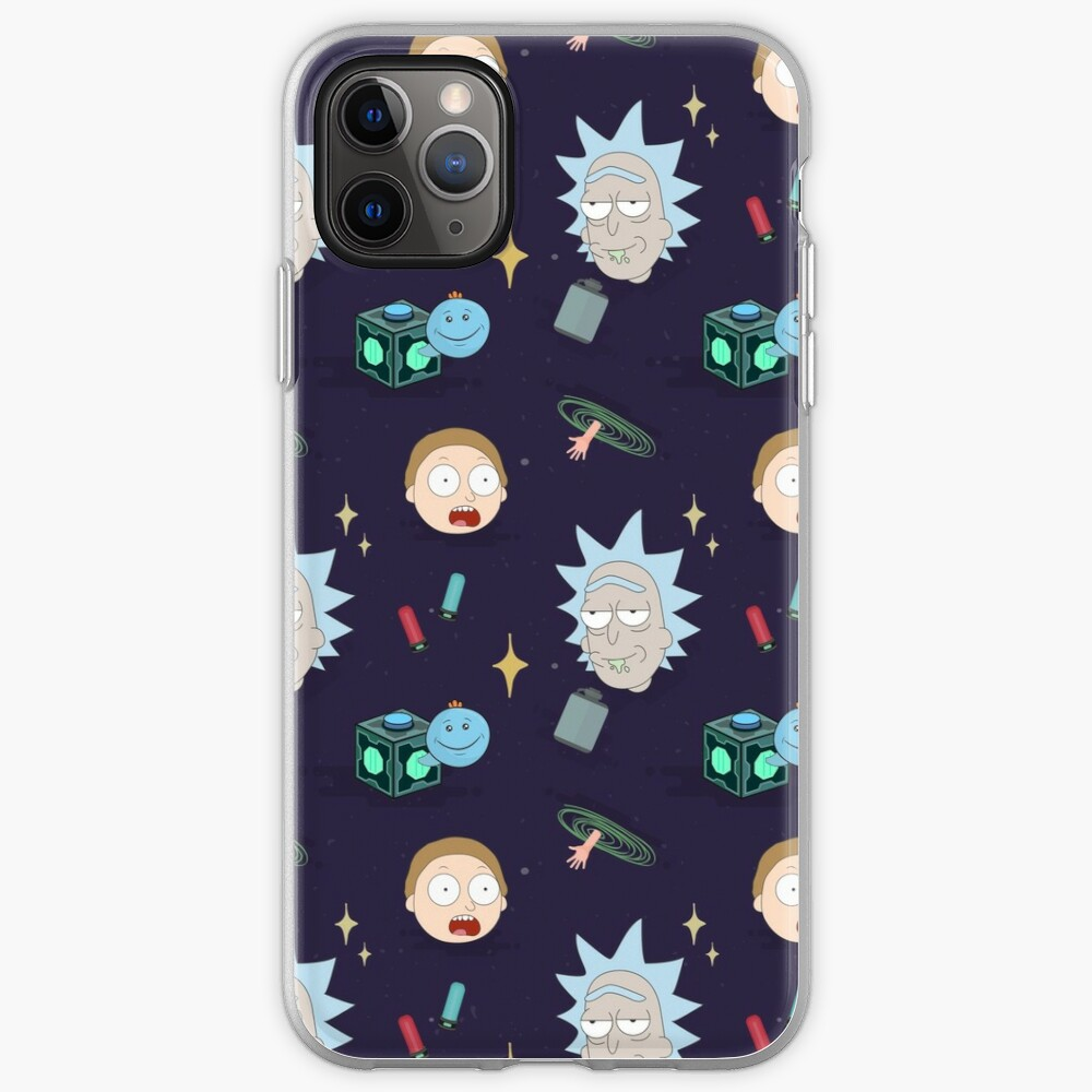 Rick and Morty's Adventure in Space (Patterns Please) iPhone Case & Cover