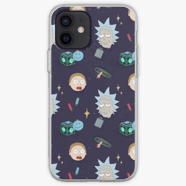 Rick and Morty's Adventure in Space (Patterns Please) iPhone Soft Case