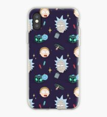 Rick und Morty Pattern iPhone-Hülle & Cover