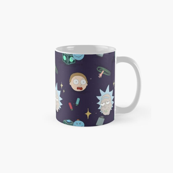 Rick and Morty's Adventure in Space (Patterns Please) Classic Mug