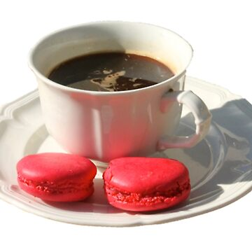tea and macarons by transparentfood
