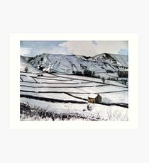 """Time to Go Home"" - Derbyshire Peak District Art Print"