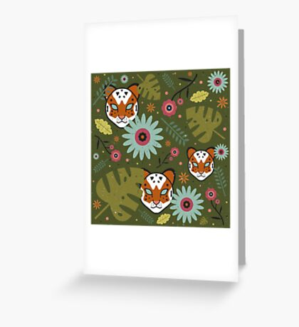 Tigers in the Jungle Greeting Card