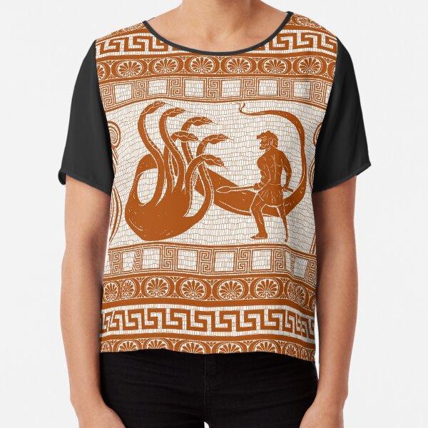 Hercules vs Hydra (orange version) Chiffon Top