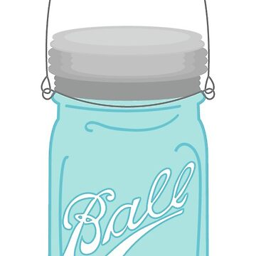 Hanging Mason Jar With Handle by TeeVision