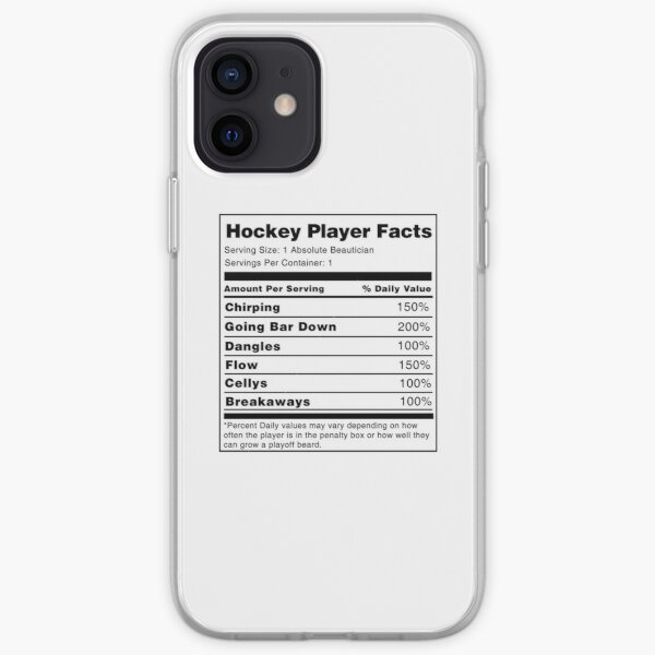 Hockey Player Nutrition Facts  iPhone Soft Case