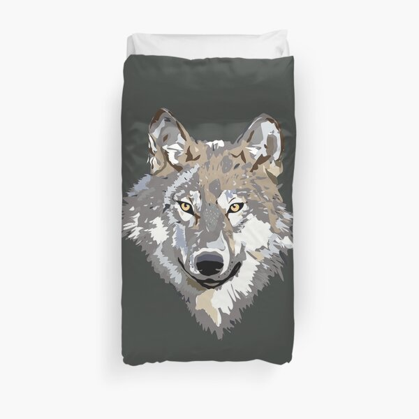 wolf's head Duvet Cover