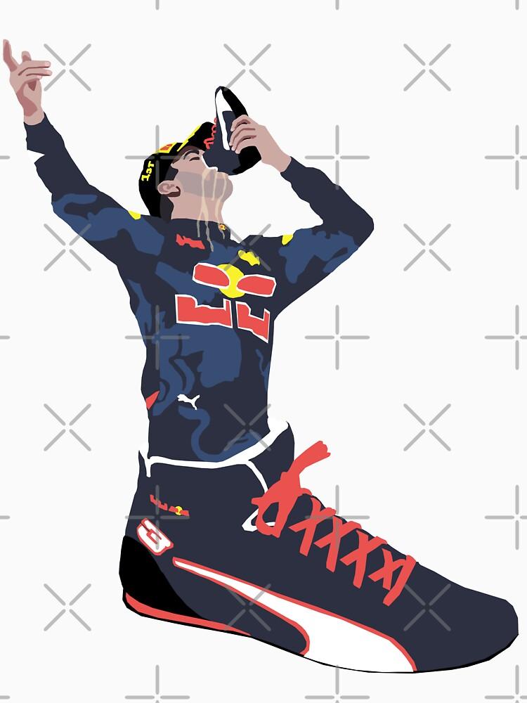 Daniel Ricciardo - Shoey In a Shoe by TheWorksTeam