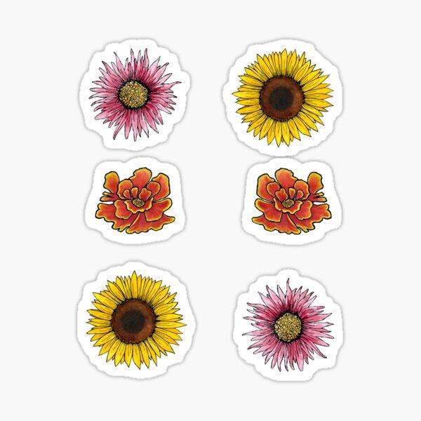 Floral Sticker Sheet Sticker