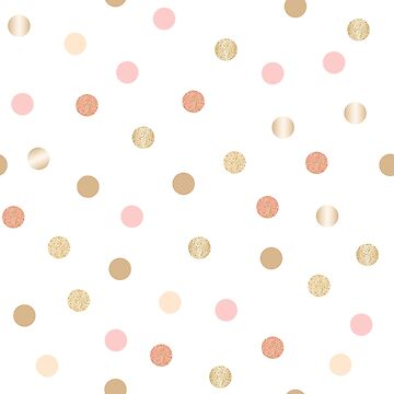 Pink And Gold Confetti Polka Dot Pattern by TeeVision