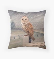 Waiting for the storm to pass.... Throw Pillow