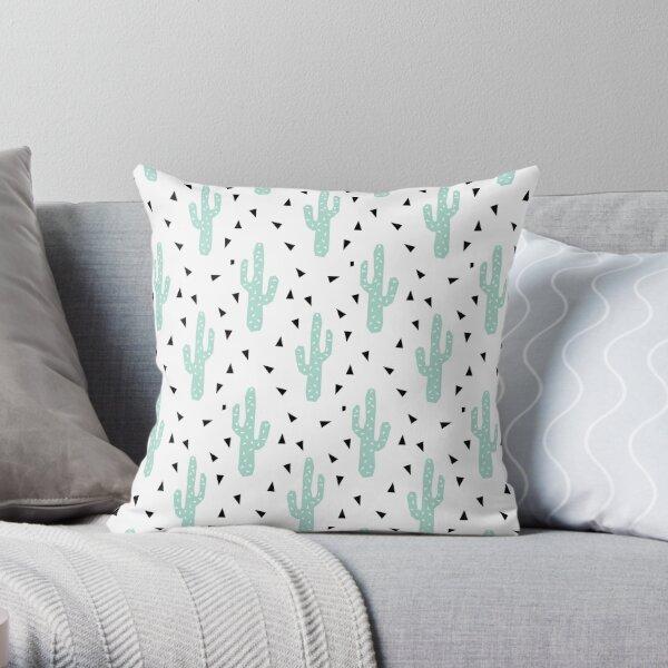Cactus - modern minimal pattern print triangles geometric trendy hipster coachella festival  Throw Pillow
