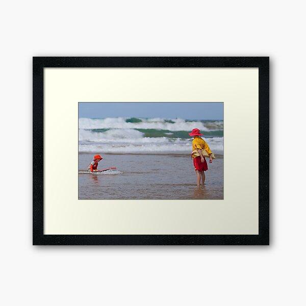 Safe on the beach II Framed Art Print