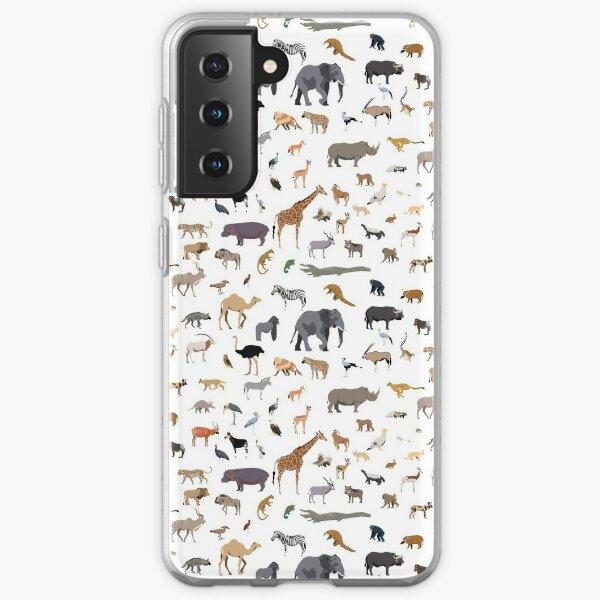 African animal pattern Samsung Galaxy Soft Case