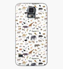 Afrikanisches Tiermuster Hülle & Klebefolie für Samsung Galaxy