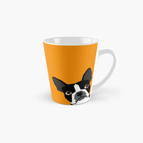 Peeking Boston Terrier funny dog art customizable gift for dog lovers dog person must haves Tall Mug