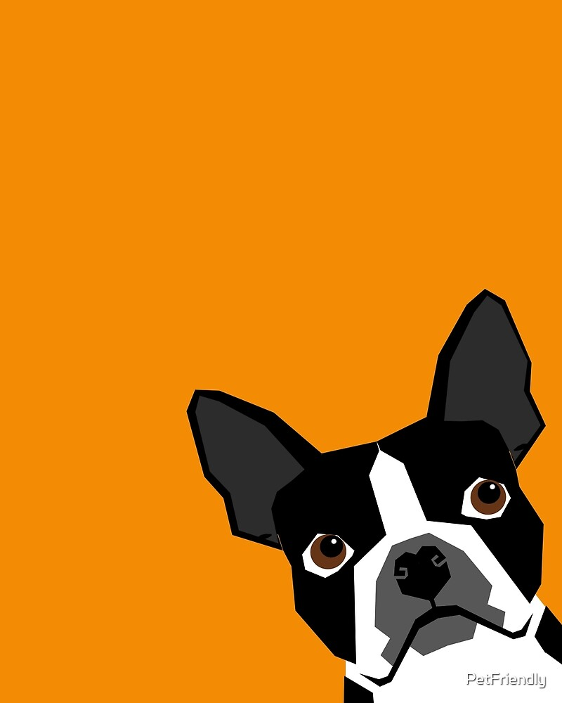 Peeking Boston Terrier funny dog art customizable gift for dog lovers dog person must haves by PetFriendly