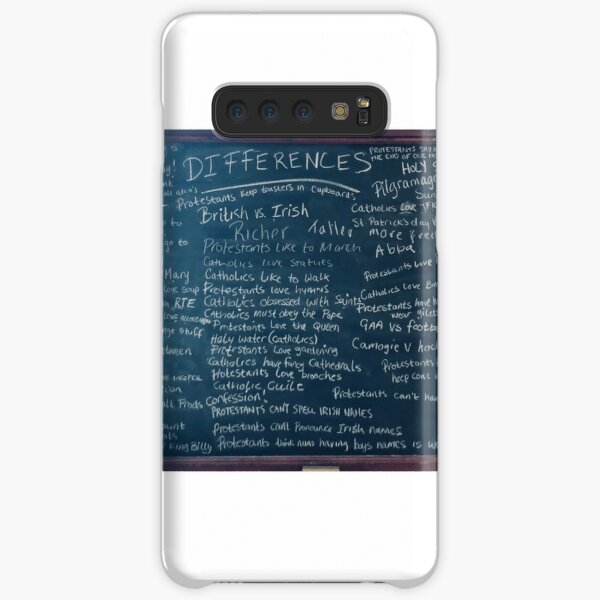 Derry Girls Protestants Catholics Differences Blackboard Samsung Galaxy Snap Case