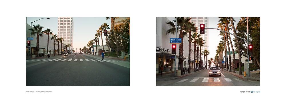 Wilshire Boulevard + 3rd Street Promenade, Santa Monica, Los Angeles, California, USA...narrowed. by David Yoon