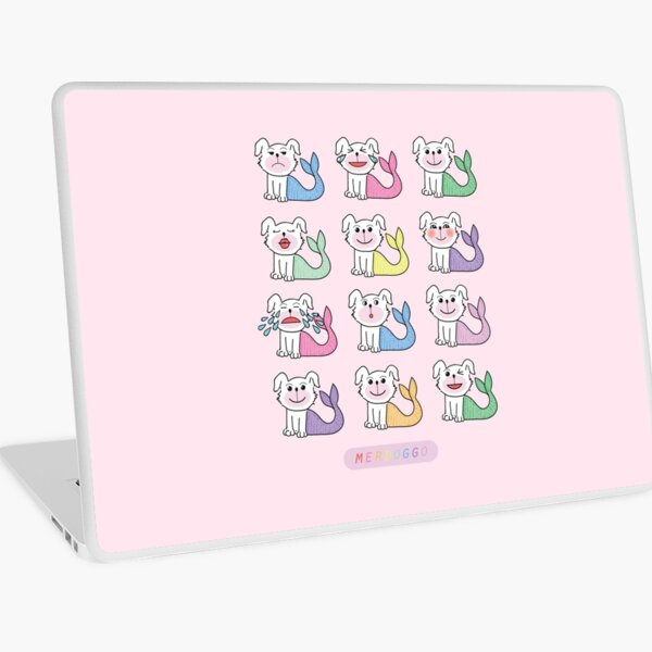 Merdoggos in Colors and with Emojis! Laptop Skin