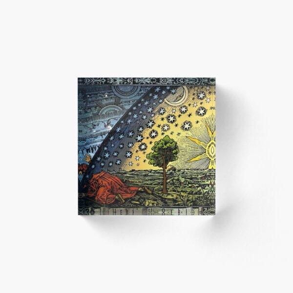 #Astronomy #illustration #ancient old scientific paradigms painting symbol antique religion cultures retro style  Acrylic Block