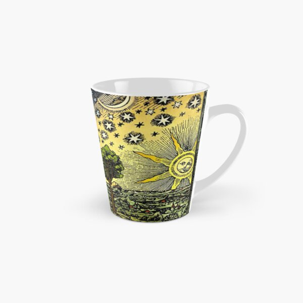 #Astronomy #illustration #ancient old scientific paradigms painting symbol antique religion cultures retro style  Tall Mug