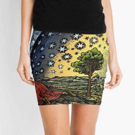 #Astronomy #illustration #ancient old scientific paradigms painting symbol antique religion cultures retro style  Mini Skirt