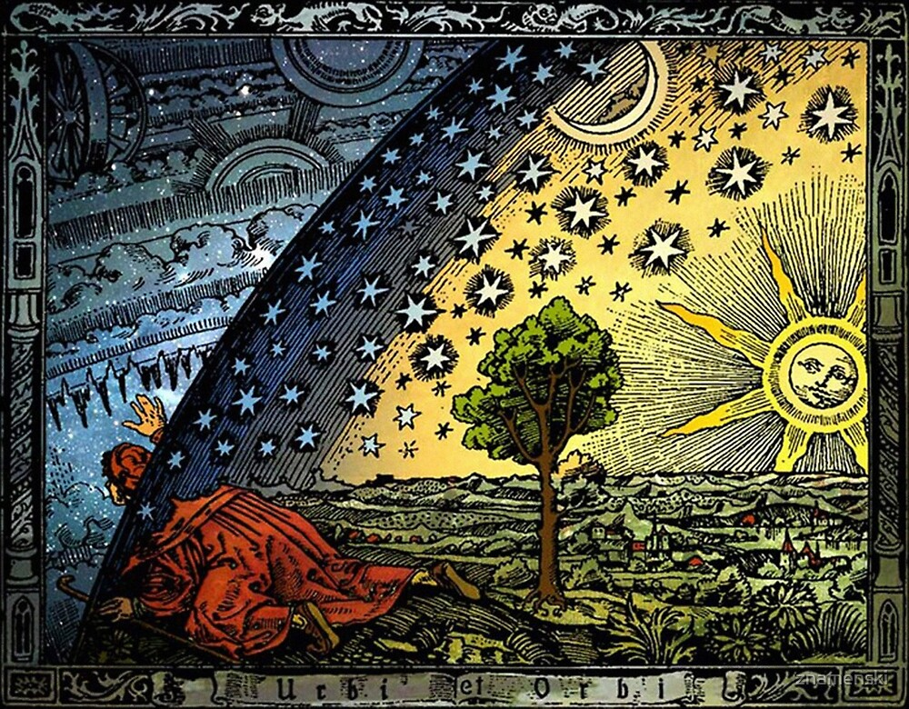 #Astronomy #illustration #ancient old scientific paradigms painting symbol antique religion cultures retro style  by znamenski