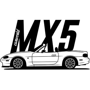 Mazda MX5 NB Side Best Shirt Design by CarWorld
