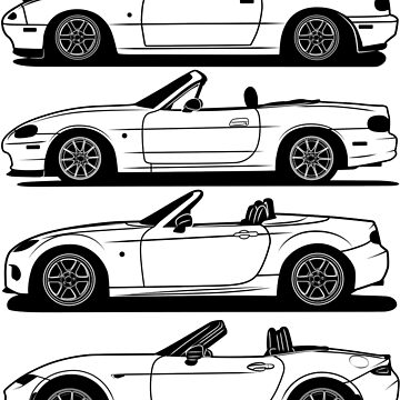Mazda MX5 Generations Best Shirt Design by CarWorld