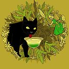 cat and green milk by hahaha-creative