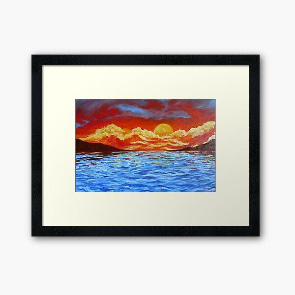 Sunset Siesta Framed Art Print