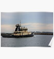 Tug Boat Under Pastel Skies Poster