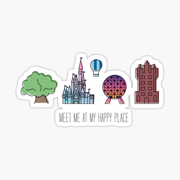 Meet Me At My Happy Place Sticker