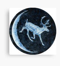Magical, Glowing Reindeer Canvas Print