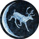 Magical, Glowing Reindeer by HAJRA MEEKS