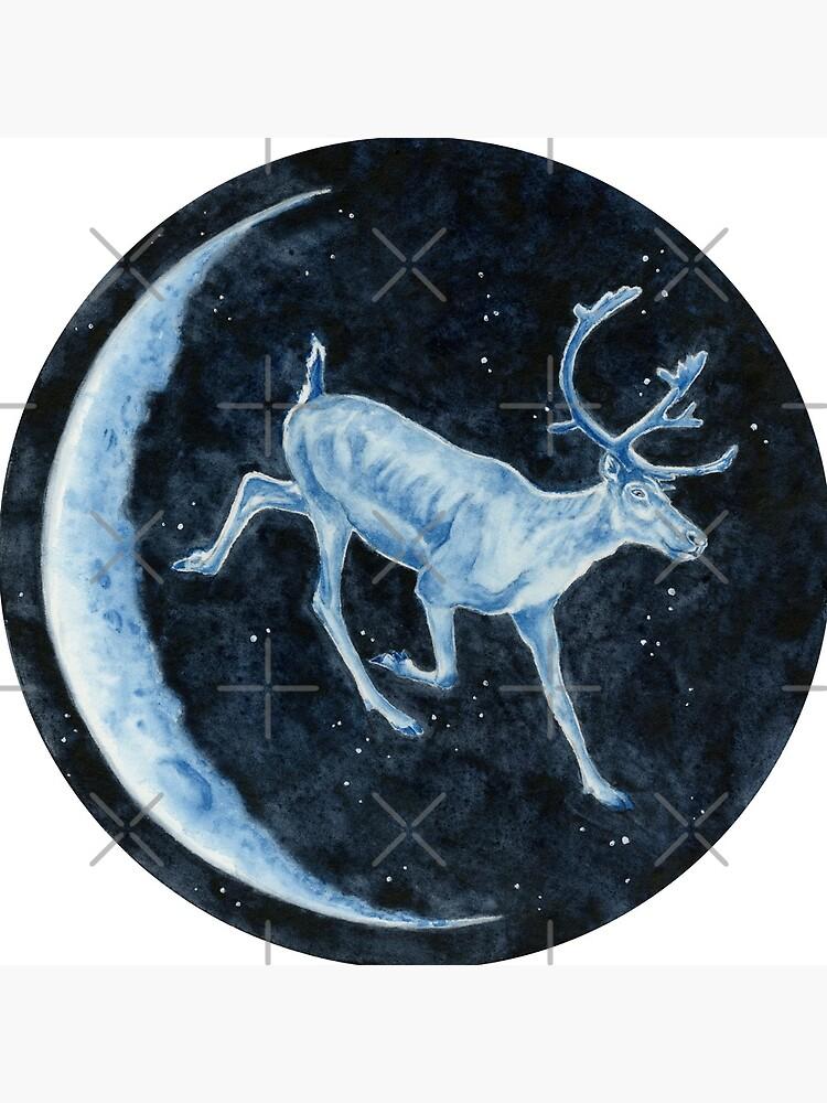 Magical, Glowing Reindeer by HajraMeeks