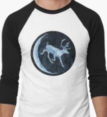 Magical, Glowing Reindeer Baseball ¾ Sleeve T-Shirt