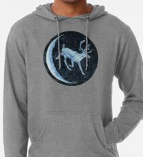 Magical, Glowing Reindeer Lightweight Hoodie