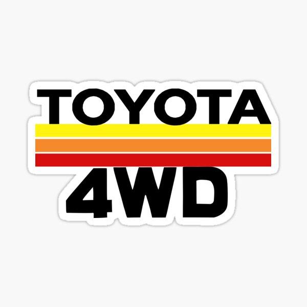 Pegatina Toyota 4WD Pegatina