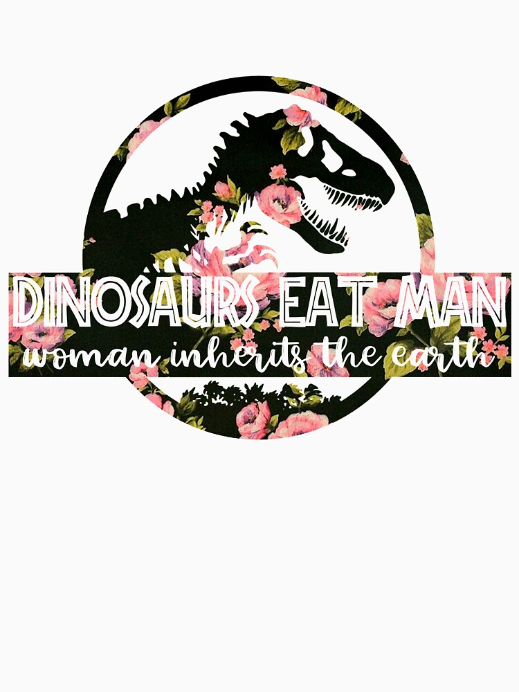 Dinosaurs Eat Man Woman Inherits The Earth Flower by Grow12D