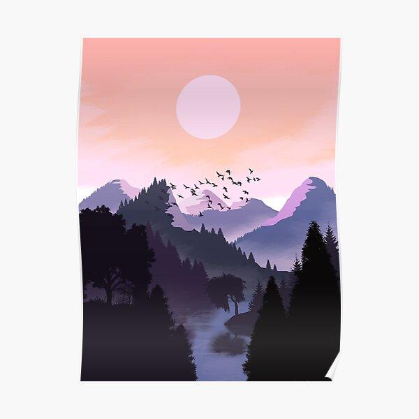 Mystic landscape Poster