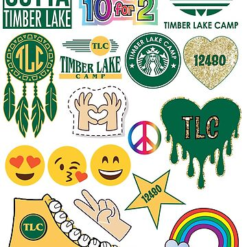 Timber Lake Camp Stickers by dddesignsnj