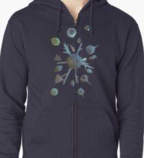 Radiolaria and Foraminifera. Option 3 Zipped Hoodie