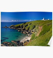 The Lighthouse at Lizard Point, Cornwall Poster